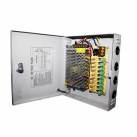 Блок питания 9-канальный 5А в металлическом корпусе. Модель : PSU-205