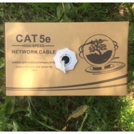 Кабель сетевой витая пара UTP 24AWG 4пары 0.48 CAT5e внутренний  Модель: CCA-010