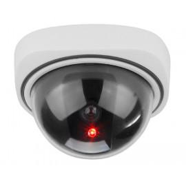 Муляж купольной камеры видеонаблюдения с мигающим красным светодиодом. Модель : K-104MU